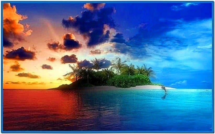Tropical Island Escape 3D Screensaver