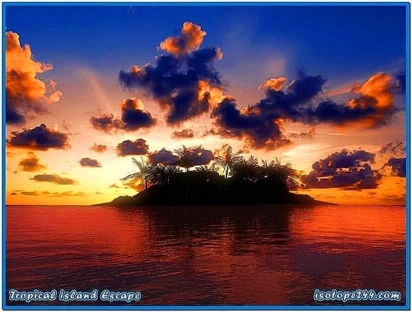Tropical Island Escape 3D Screensaver