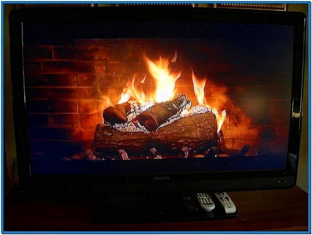 TV Screensaver Fire