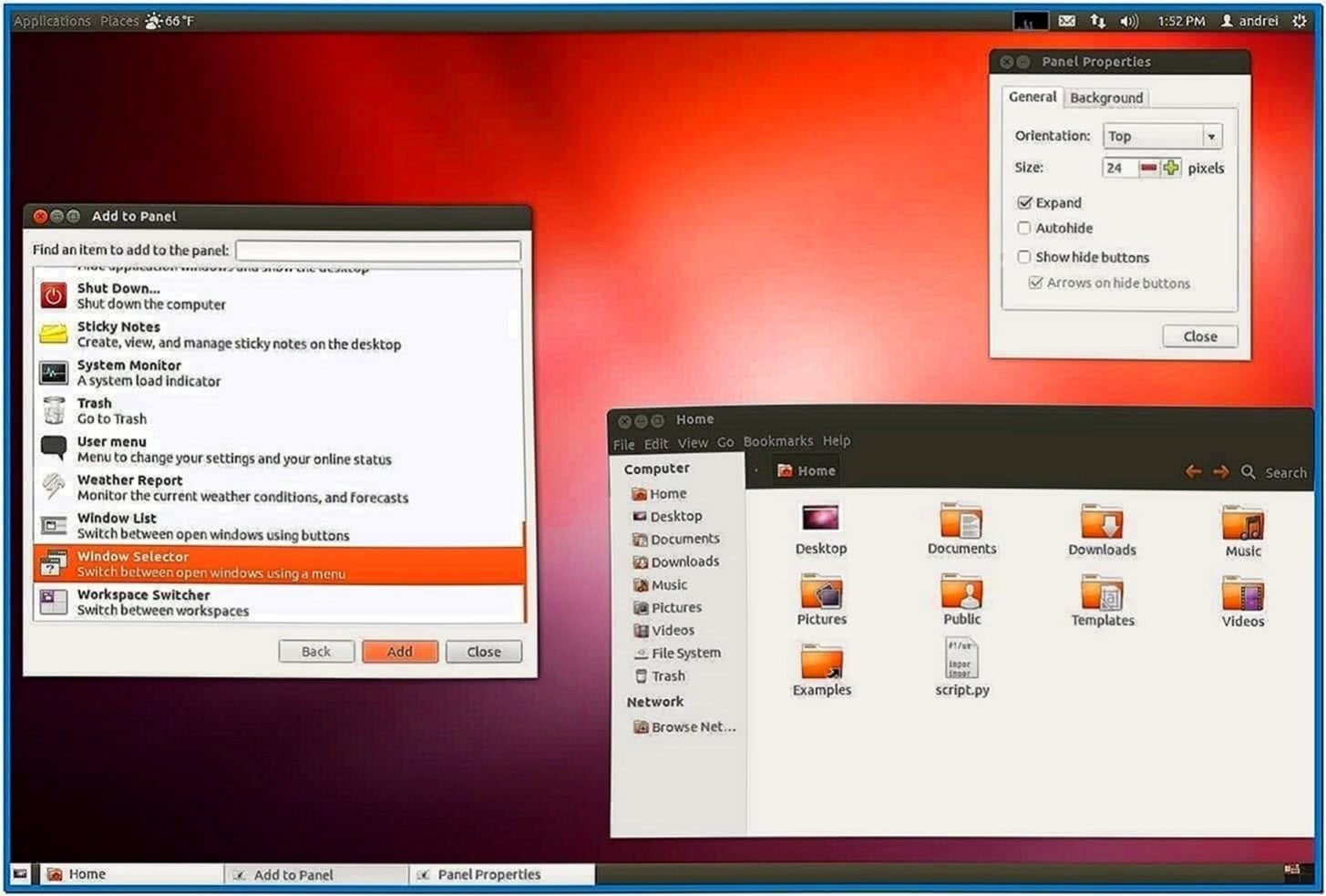 Ubuntu 12.04 Gnome Classic Screensaver