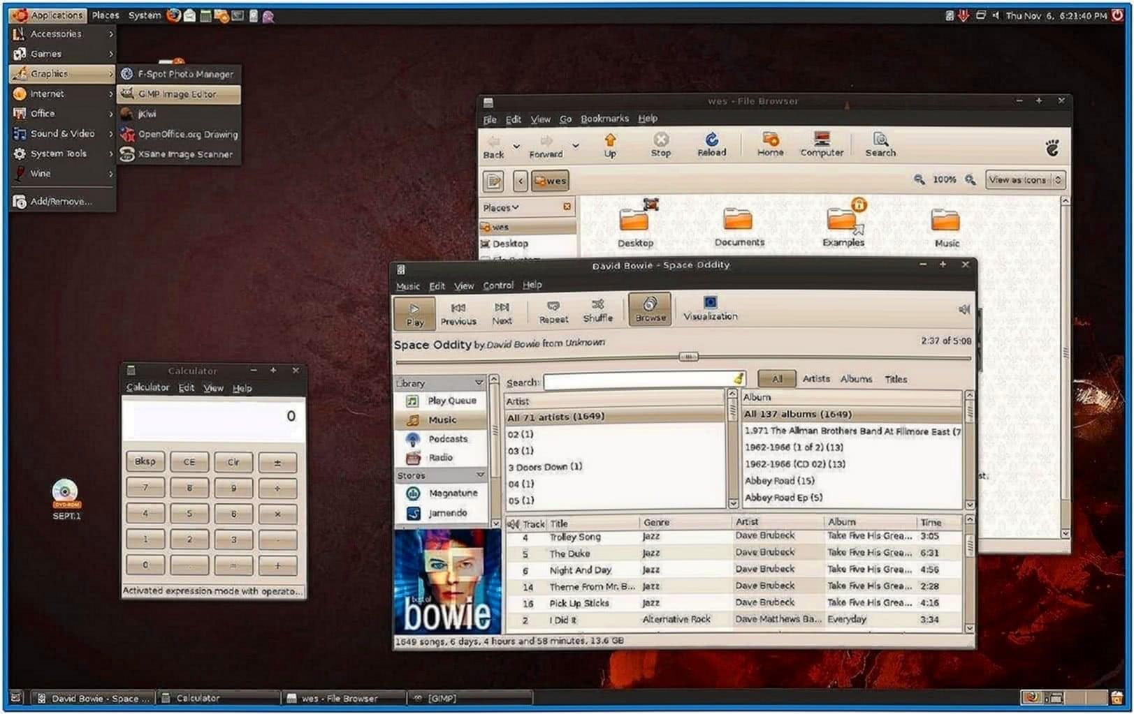 Ubuntu gnome screensaver themes