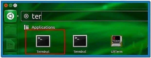 Ubuntu Launch Screensaver Terminal