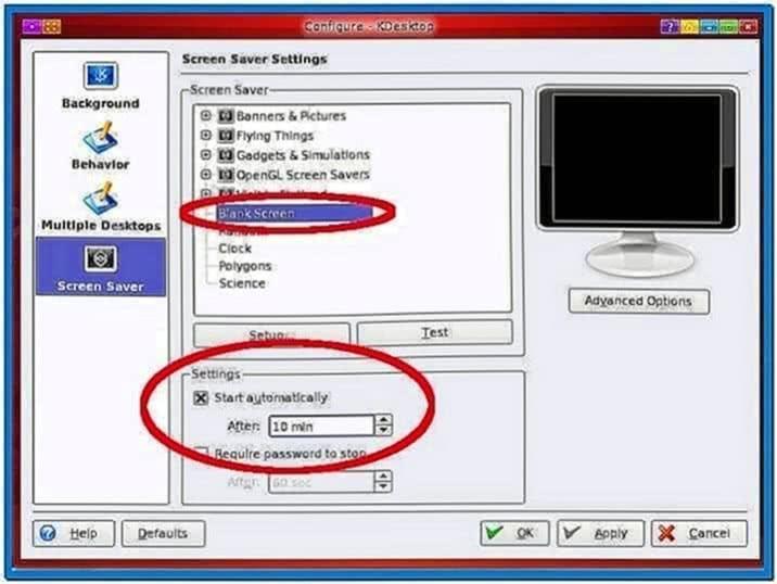 Ubuntu Screensaver 10 Minutes