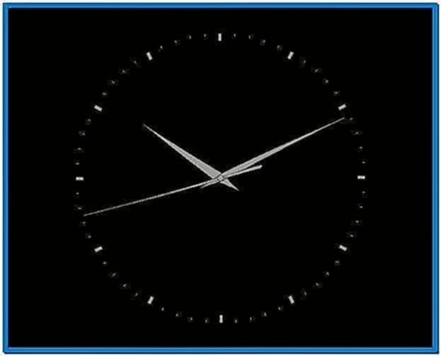 Ubuntu Screensaver Analog Clock
