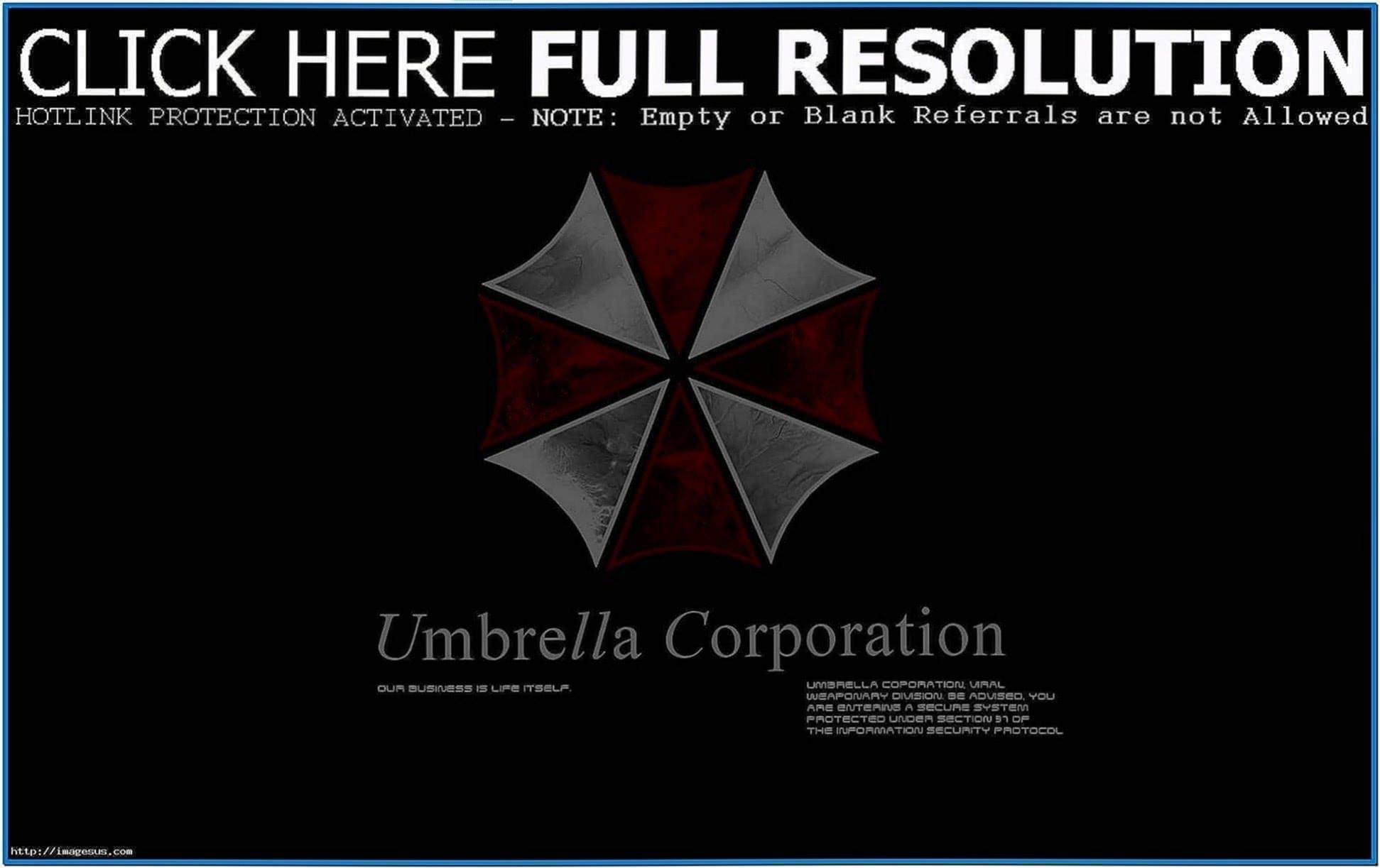 Umbrella Corp 3D Screensaver