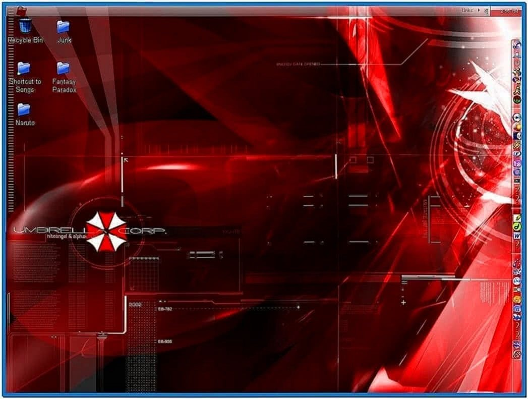 Umbrella corp screensaver Windows