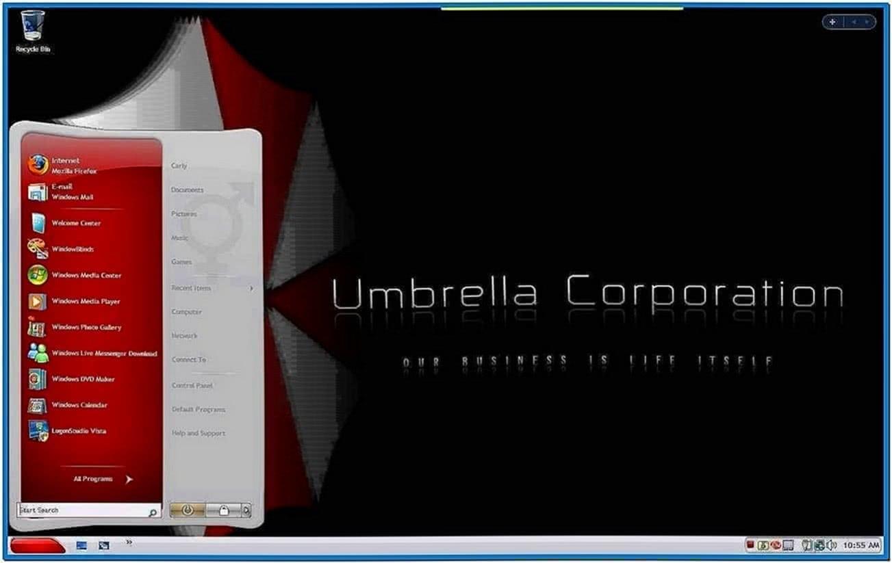 Umbrella corporation animated screensaver