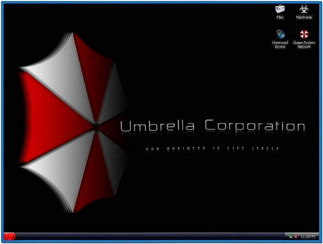 Umbrella corporation screensaver - Download free