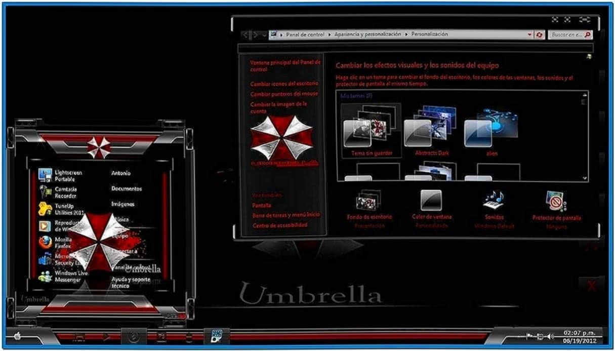 Umbrella corporation screensaver Mac