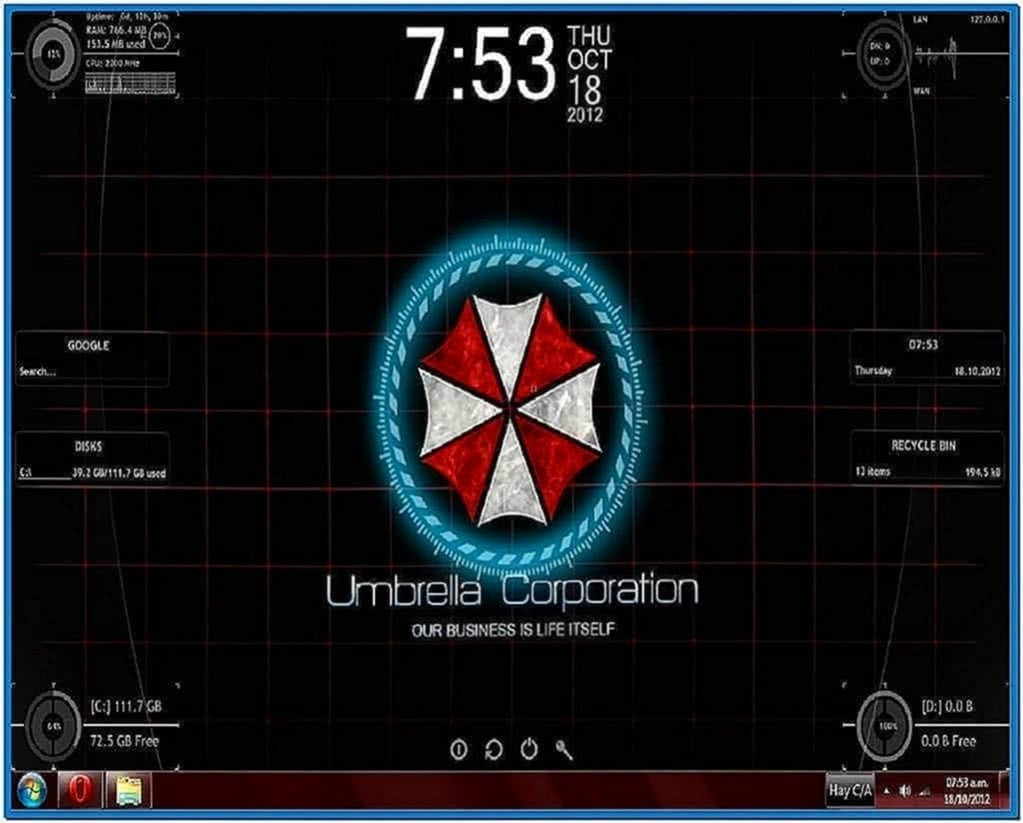 Umbrella Corporation Screensaver Windows 7