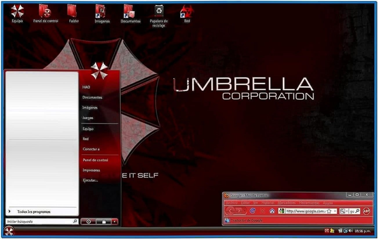 Umbrella Corporation Screensaver Windows Vista