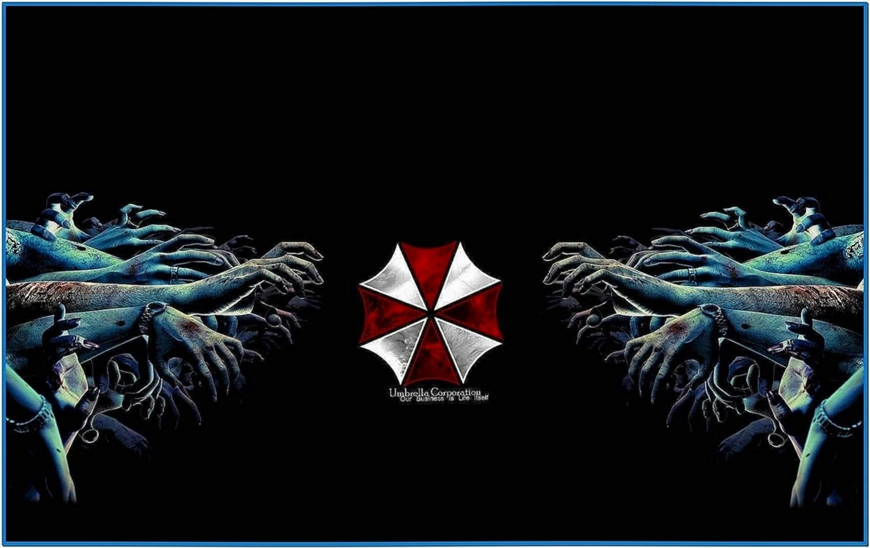 Umbrella Corporation Screensaver Zombies