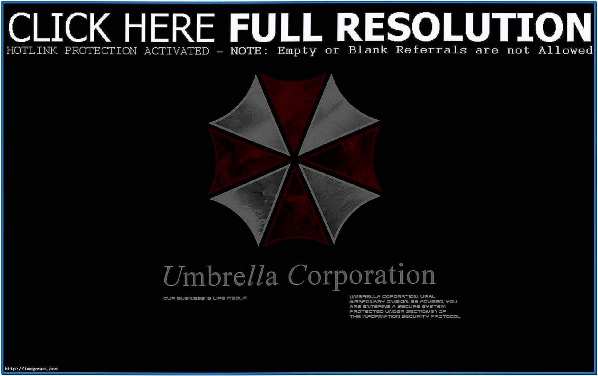 Umbrella Corporation Screensaver