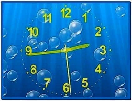 Underwater Clock Bubbles Screensaver 1.23.2