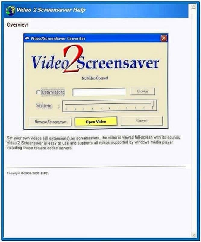 Video 2 Screensaver Converter