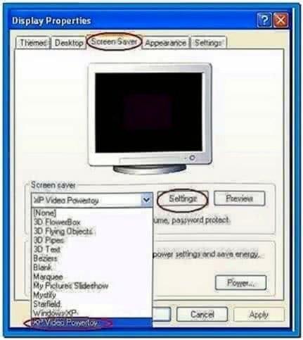 Video Als Screensaver Windows XP
