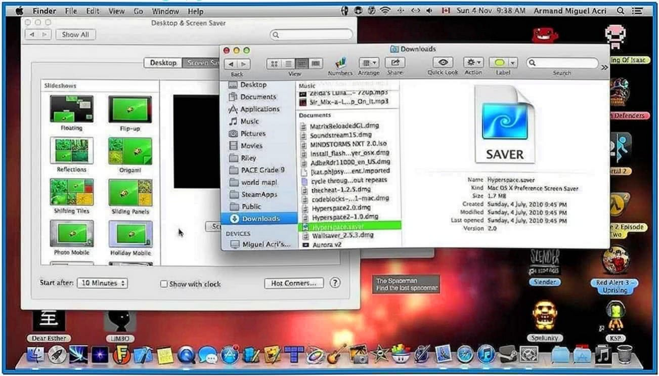 Video Screensaver Mac 10.8