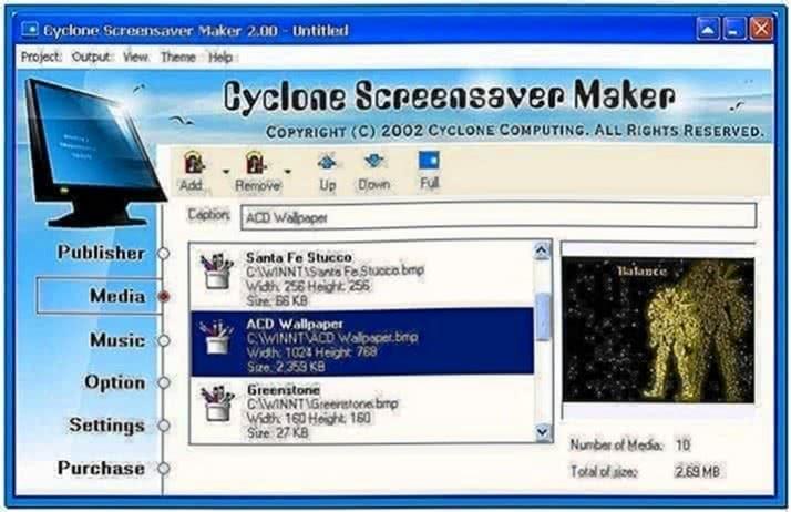 Video screensaver maker software