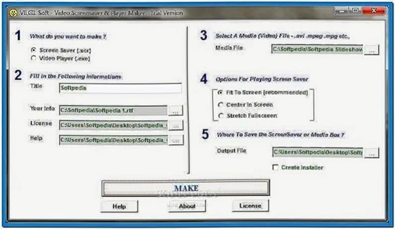 Video Screensaver Maker Windows 7