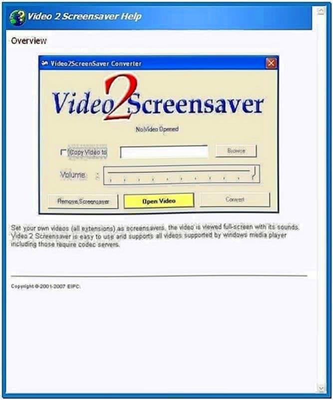 Video to Screensaver Converter