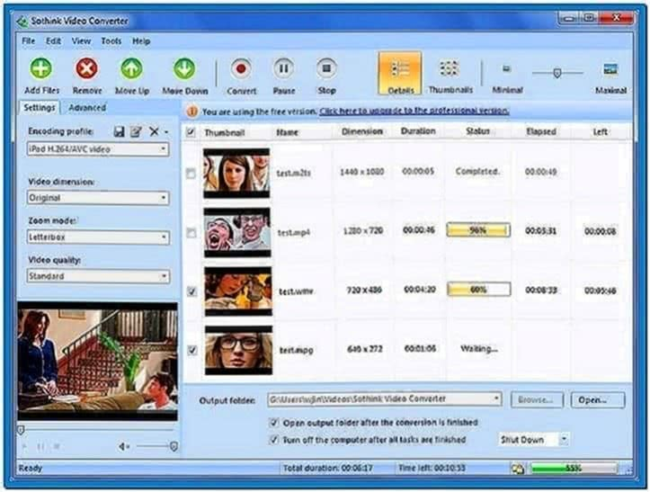 Video to Screensaver Converter Freeware