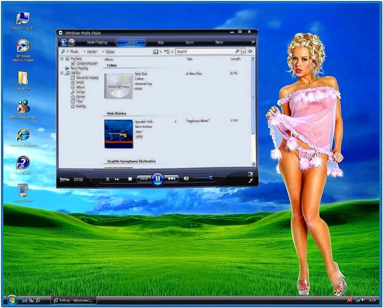 Virtual Girls Screensaver