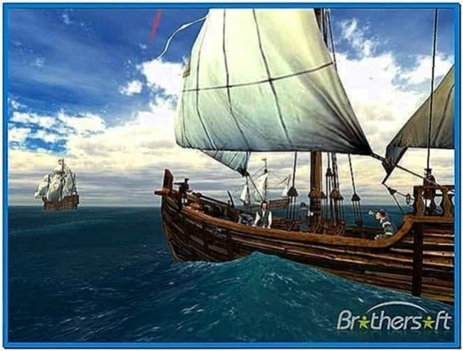 Voyage of columbus 3D screensaver for Windows 7