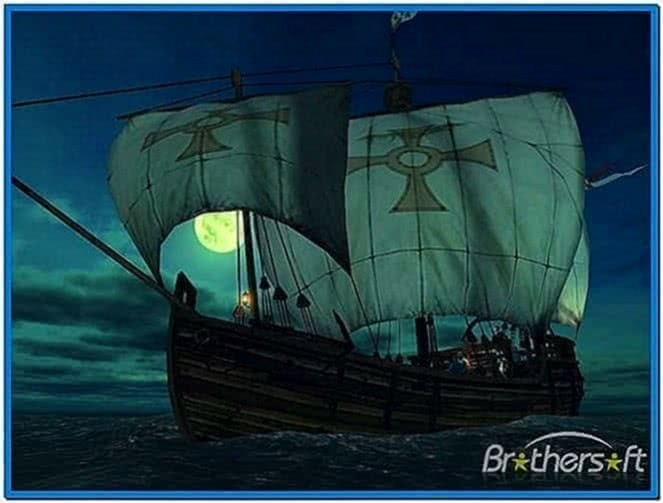 Voyage of Columbus 3D Screensaver for Windows 7