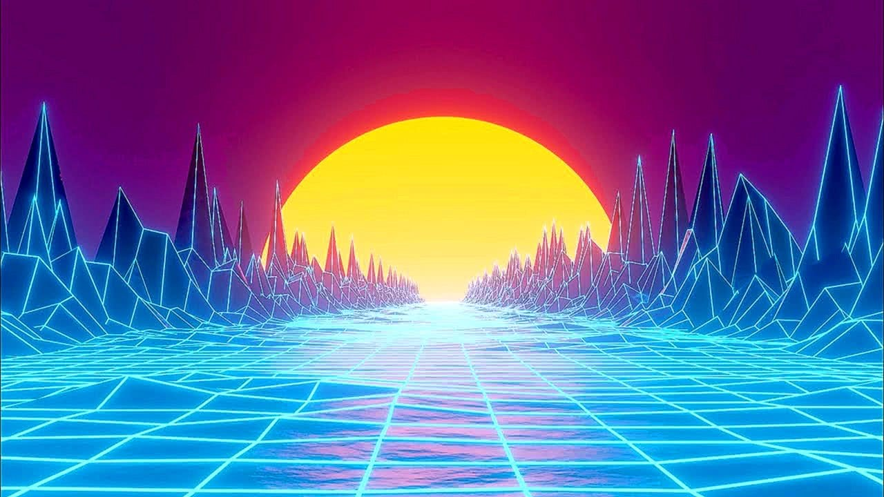 Synthwave Retro Screensaver (10 Hours)