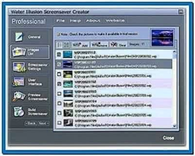 Water Illusion Screensaver Creator Professional