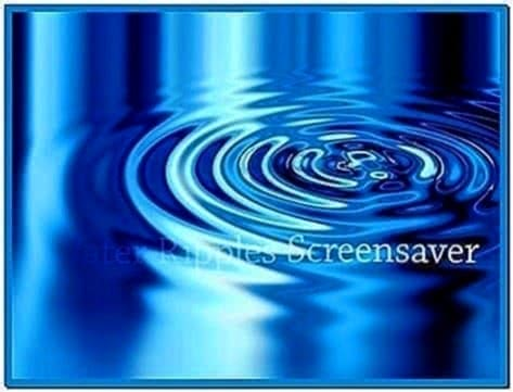 Water ripple effect screensaver - Download free