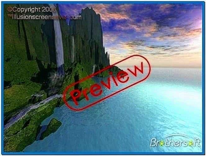 Waterfalls Screensaver Windows 7
