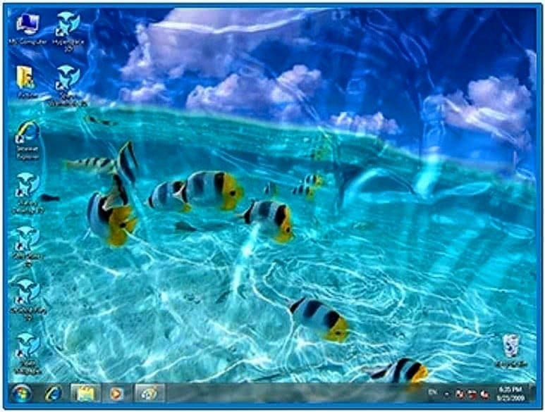 Watery Desktop 3D Amazing Windows Screensaver
