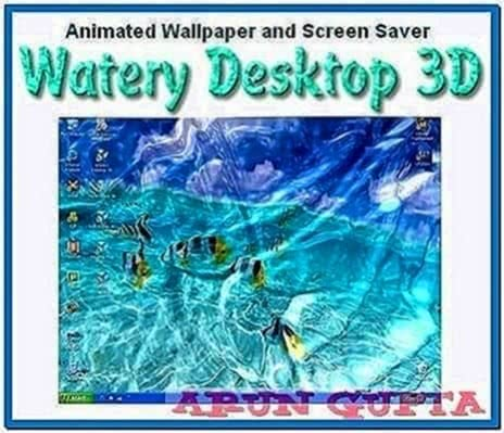 Watery Desktop 3D Screensaver 3.15