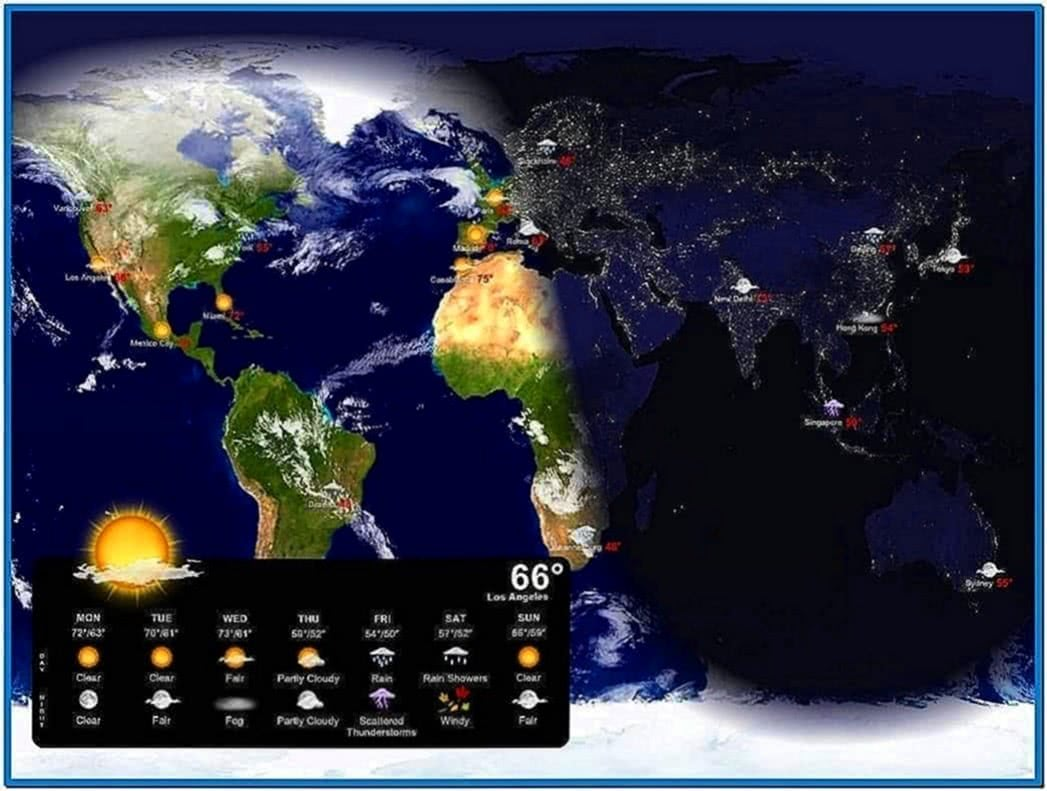 Weather desktop wallpaper screensaver - Download free