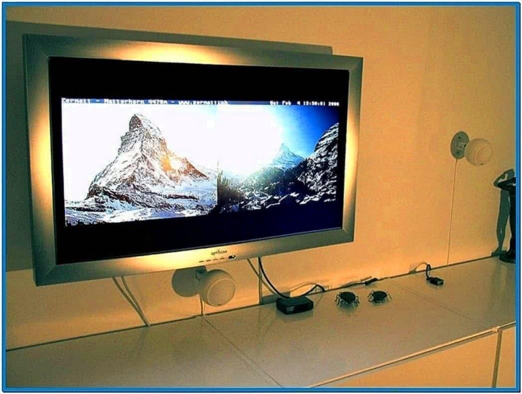 Web camera screensaver