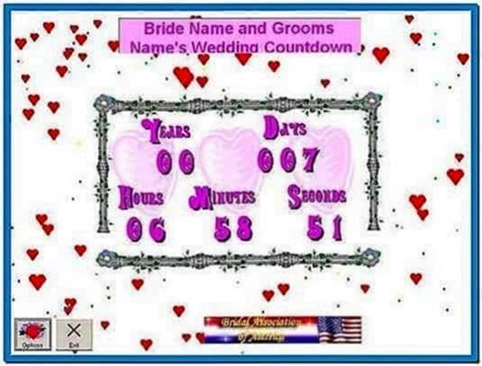 Wedding Countdown Clock Screensaver
