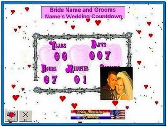Wedding Countdown Clock Screensaver