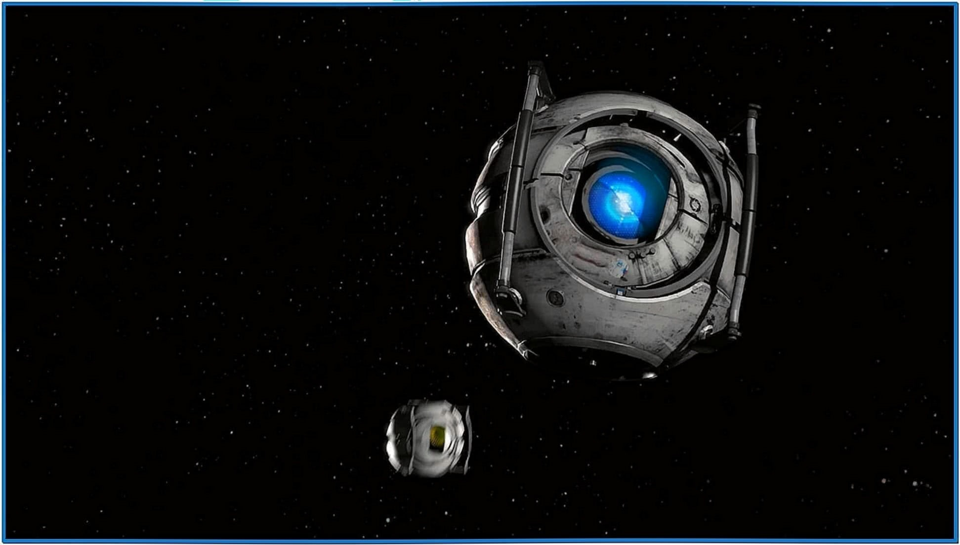 Wheatley in Space Screensaver Mac