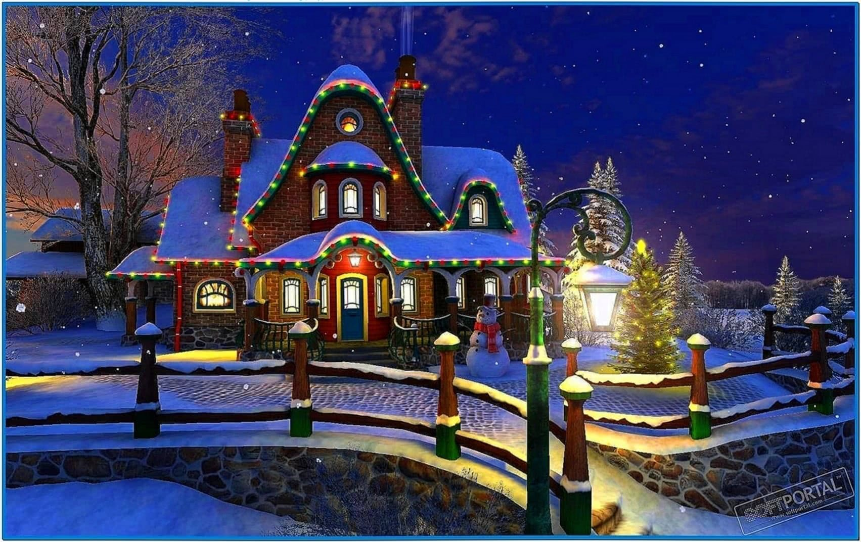 White Christmas 3D Screensaver 1.0 - Download-Screensavers.biz
