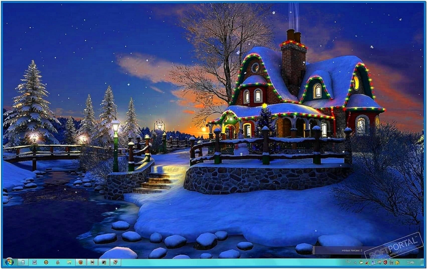 White Christmas 3D Screensaver