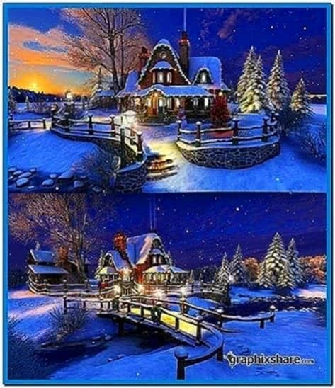 White Christmas 3D Screensaver and Animated Wallpaper