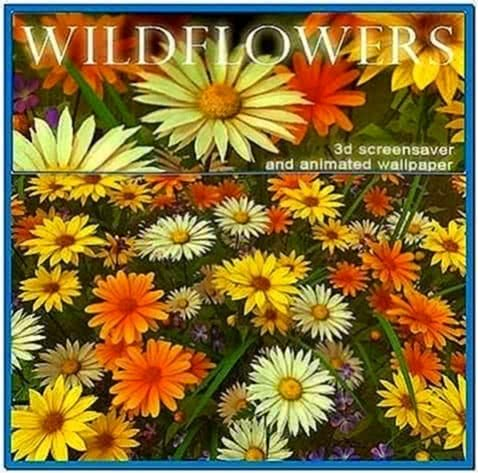 Wild Flowers 3D Screensaver and Animated Wallpaper