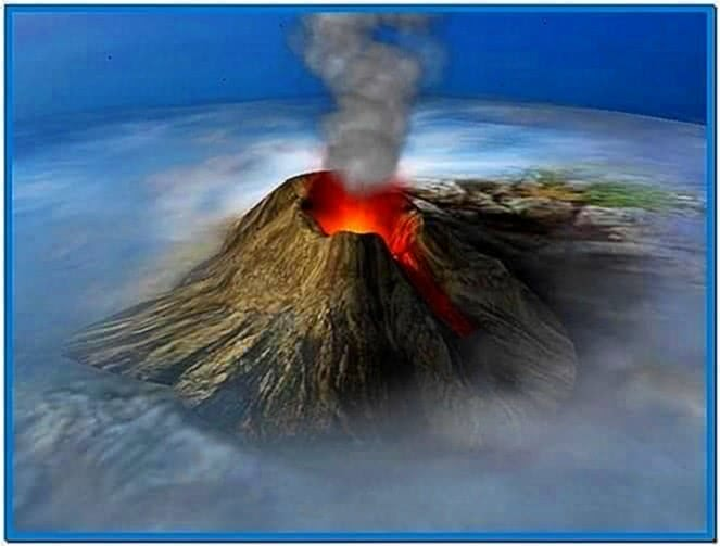 Windows 3D Text Screensaver Volcano