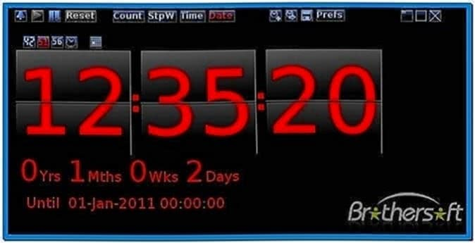 Windows 7 countdown timer screensaver