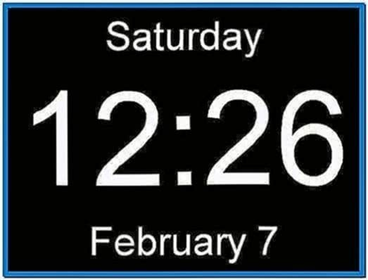 Windows 7 digital clock screensaver