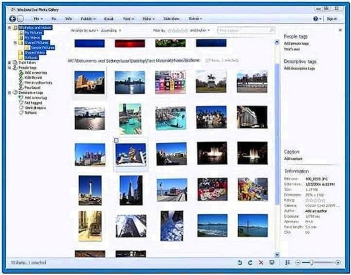 Windows 7 Live Photo Gallery Screensaver
