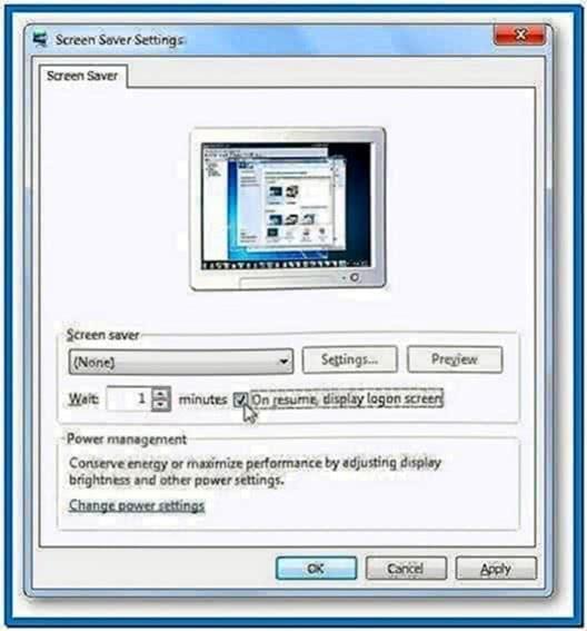 Windows 7 Lock Screen Without Screensaver