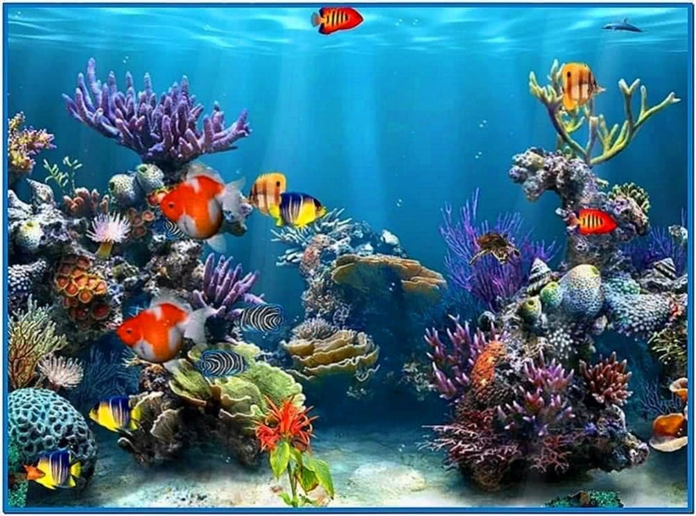 Windows 7 Screensaver 3D Aquarium