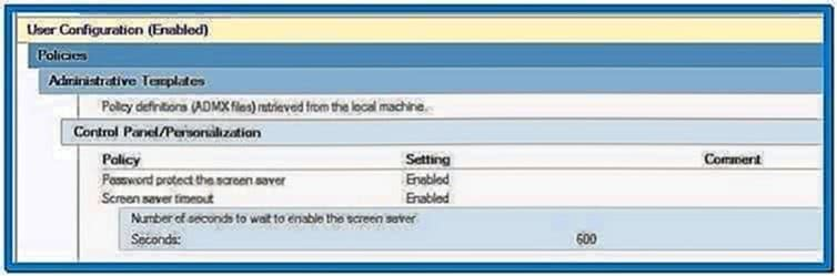 Windows 7 Screensaver Lock GPO